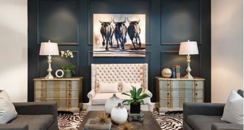 Accent Wall Living Room Houzz