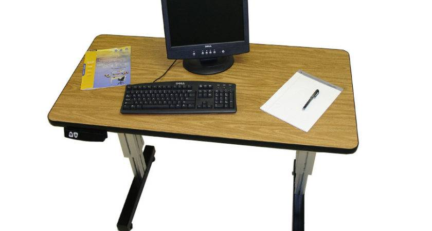 Adjustable Height Desk Single Surface Electric