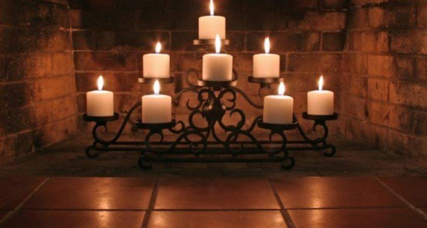 Adorable Fireplace Candle Displays Any Interior