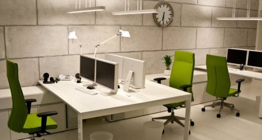 Affordable Interior Small Office Designs Square