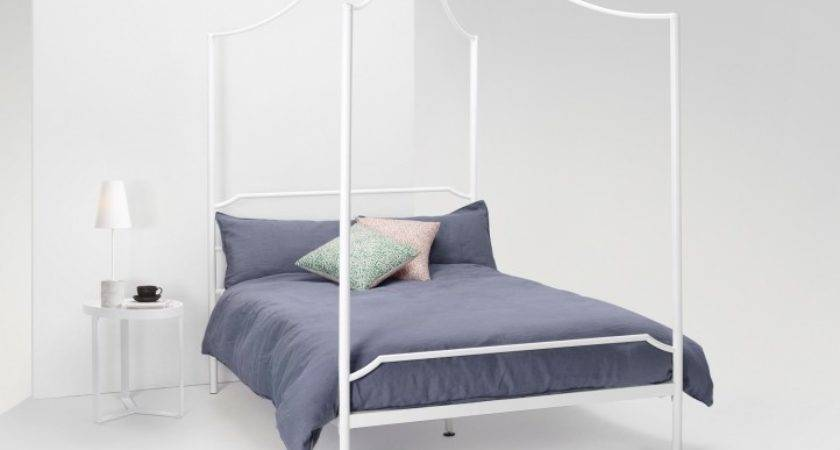 Albany Four Poster Canopy Double Bed White Absolute Home