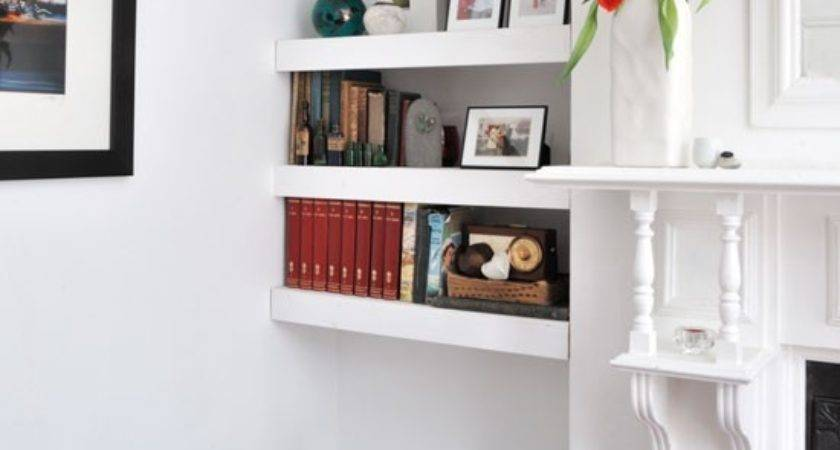 Alcove Floating Shelves Shelving Ideas Housetohome