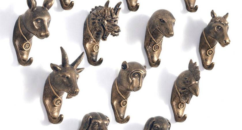 Aliexpress Buy Unique Chinese Zodiac Resin Robe Hook