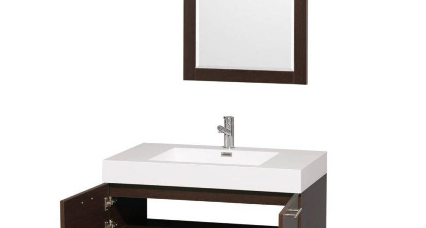 Amare Wall Mounted Bathroom Vanity Set Integrated
