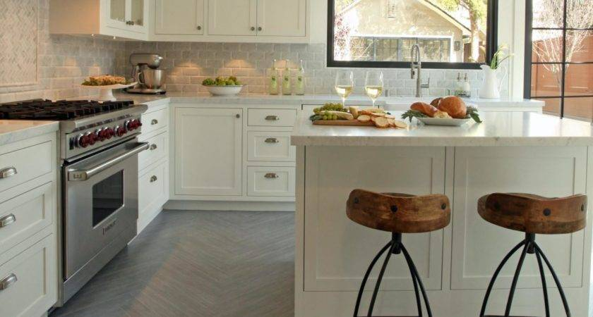 Amazing White Kitchen Cabinetry Set Added Small