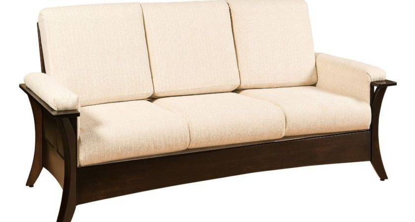 Amish Modern Caledonia Sofa Couch Upholstered Solid Wood