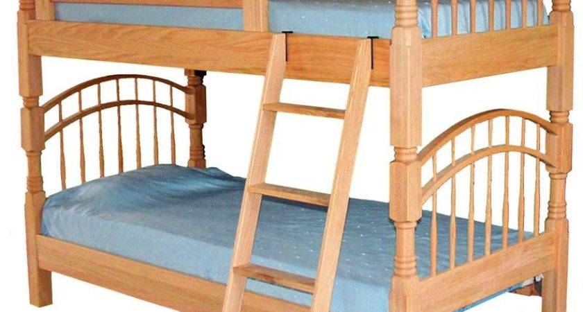 Amish Pine Hollow Double Bow Bunk Bed