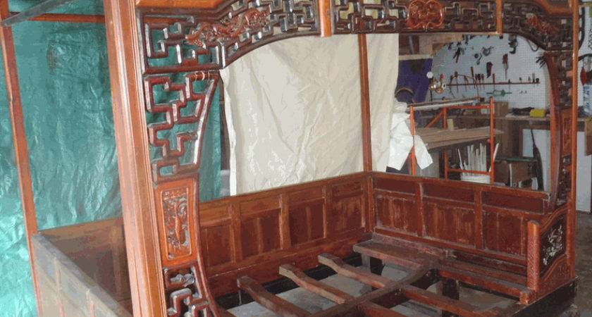 Antique Asian Furniture Canopy Bed Southern China