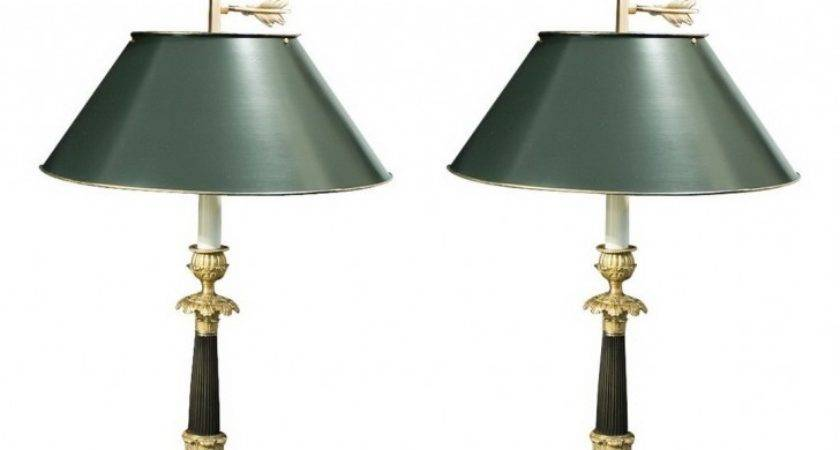 Antique Bedroom Unique Black Metal Candlestick Lamps