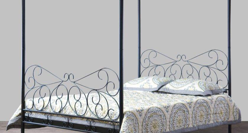 Antiquity Canopy Bed Black Beds Hayneedle