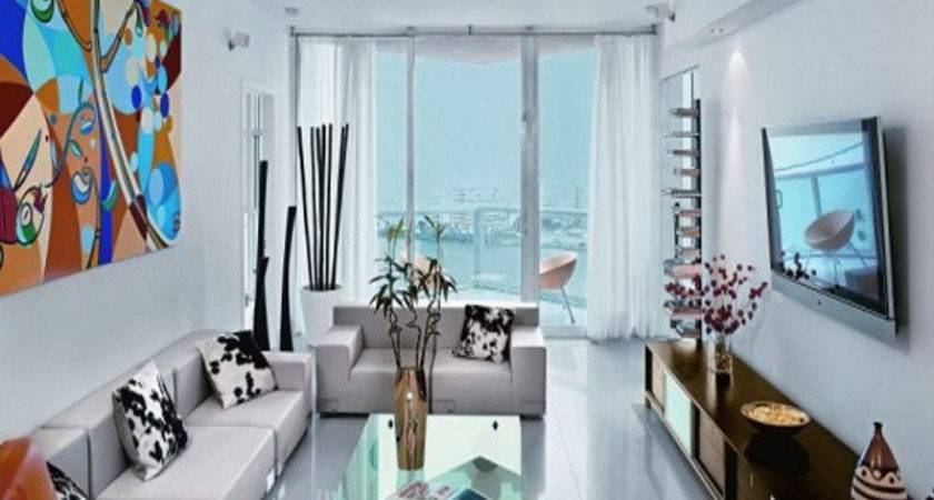 Apartment Bright White Small Living Room