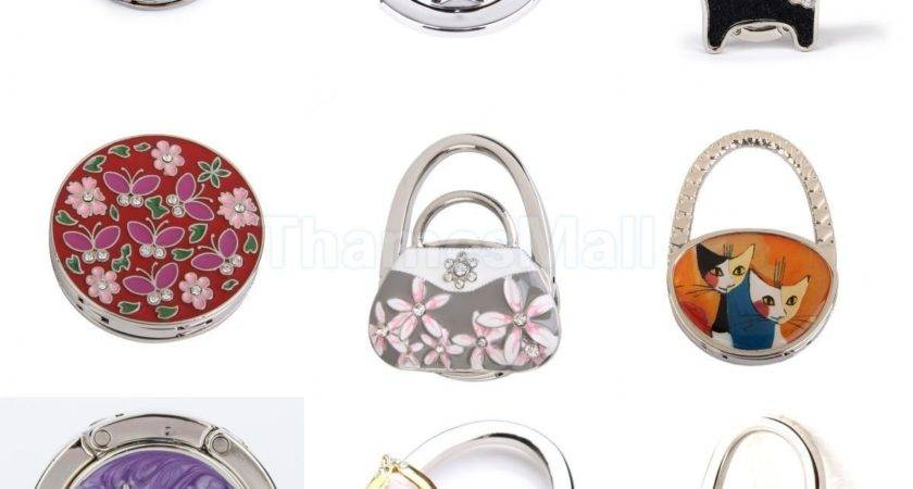 Apple Pattern Round Folding Handbag Purse Hanger Holder