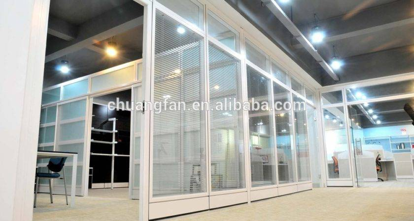 Architectural Interior Glass Partition Wall Systems Office