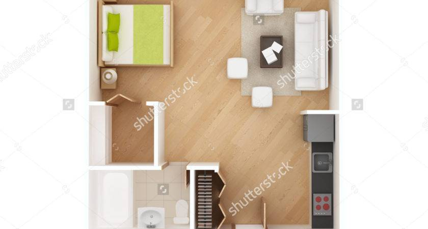 Architectures Floor Design Studio Apartment Long