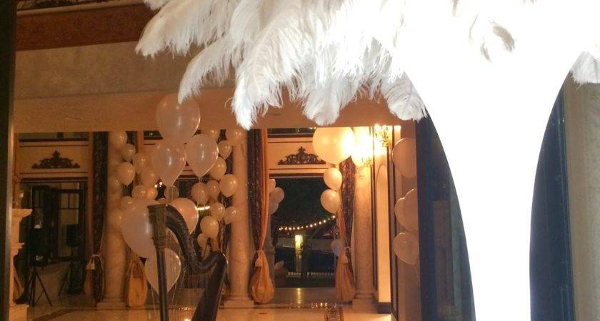 Astonishing Great Gatsby Party Decorations Applied