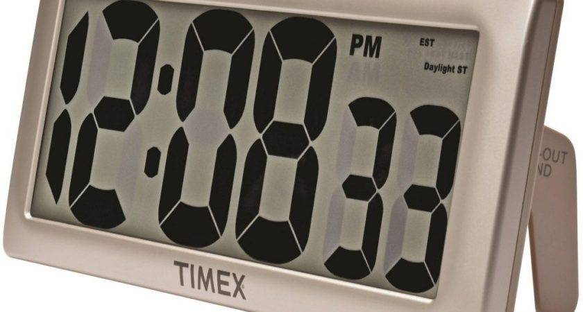 Atomic Digital Wall Clock Timex