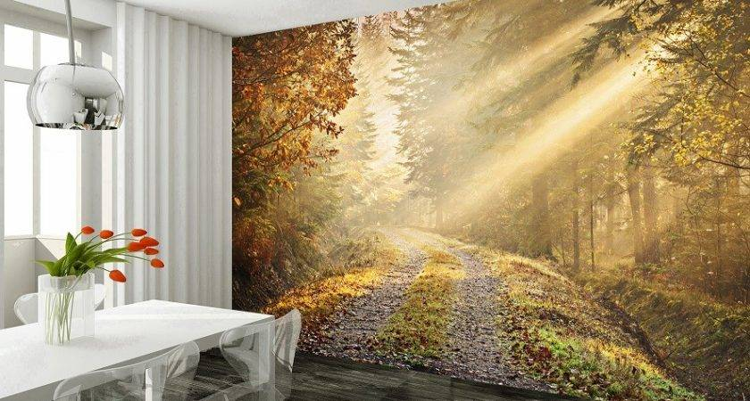 Autumn Forest Patch Wall Mural
