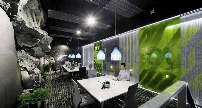 Awesome Google Zurich Office Rock Wall Interior