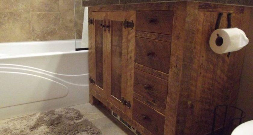 Barnwood Vanity Bathroom