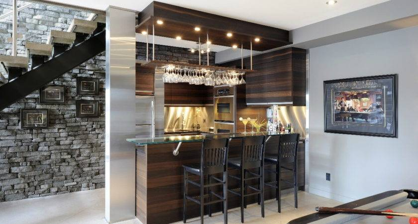 Basement Bar Ideas Small Spaces Midcentury