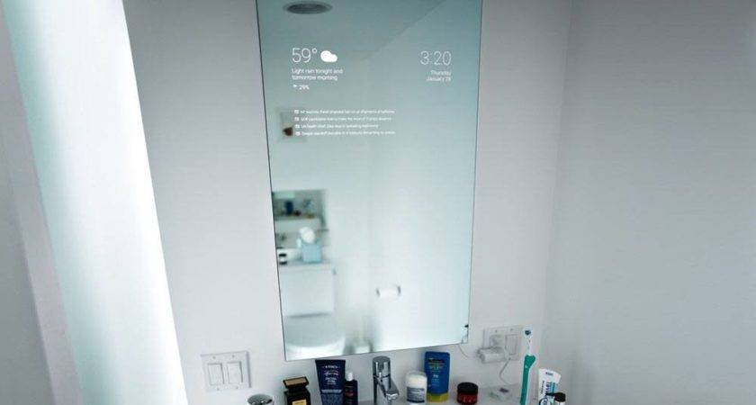 Bathroom Smart Mirror Designed Google Engineer