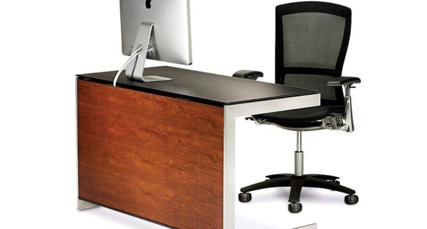 Bdi Sequel Compact Desk Natural Stained Cherry