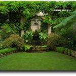 Beautiful Backyard Garden Home Round