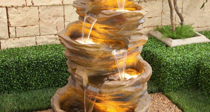 Beautiful Lightweight Fountains Tranquila Table Fountain