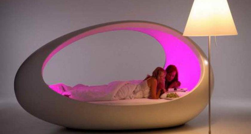 Bedroom Cool Shaped Beds Design Stand Lamp