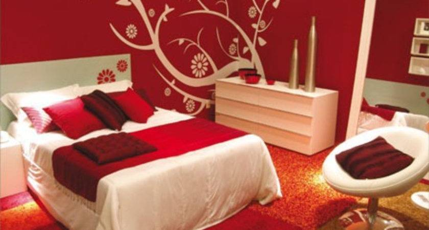 Bedroom Decorating Ideas Calm Red Paint Colours