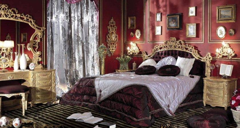 Bedroom Italian Style Finished Antique Gold