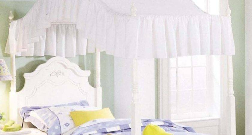Bedroom Marvelous White Wood Canopy Bed Design Founded