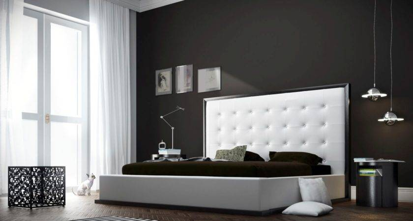 Bedroom White Leather Headboard Queen Accent