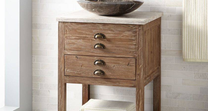 Benoist Reclaimed Wood Vessel Sink Vanity Pine