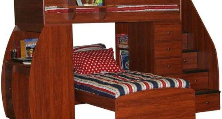 Berg Space Saver Twin Over Bunk Bed Desk Chest