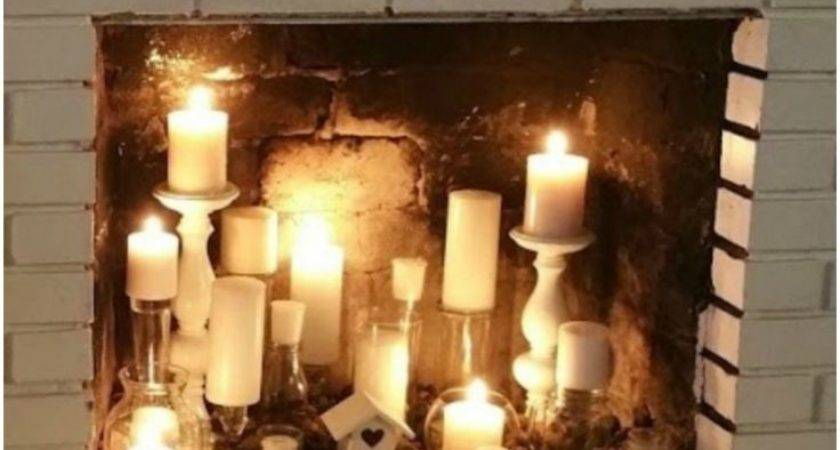 Best Candle Fireplace Ideas Pinterest Fake Mantle