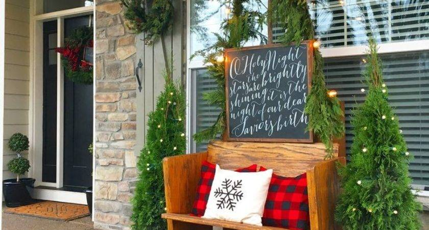 Best Christmas Porch Ideas Pinterest
