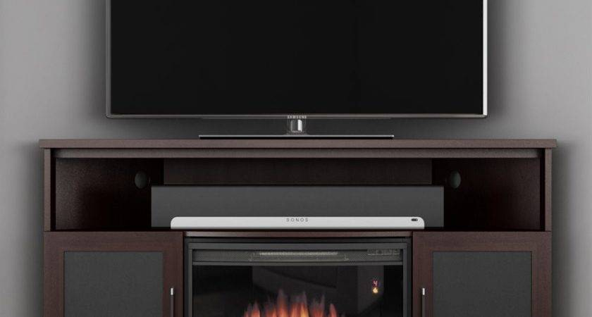 Best Corner Electric Fireplace Stand Clayton Design