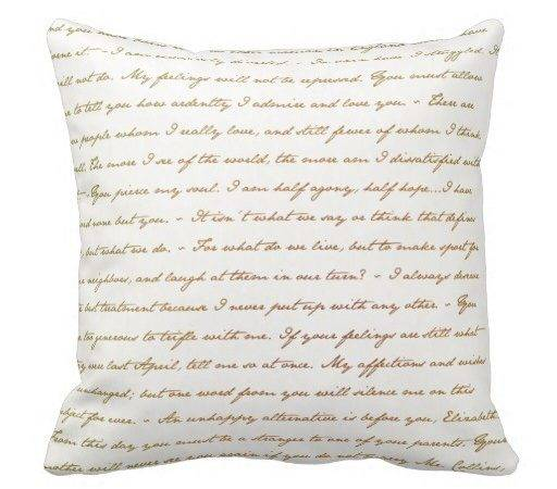 Best Quotes Jane Austen Throw Pillow Zazzle