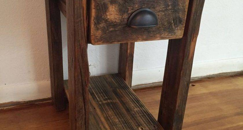 Best Rustic End Tables Ideas Pinterest Farmhouse