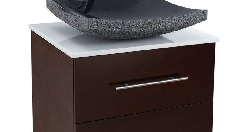 Bianca Wall Mounted Modern Bathroom Vanity Espresso