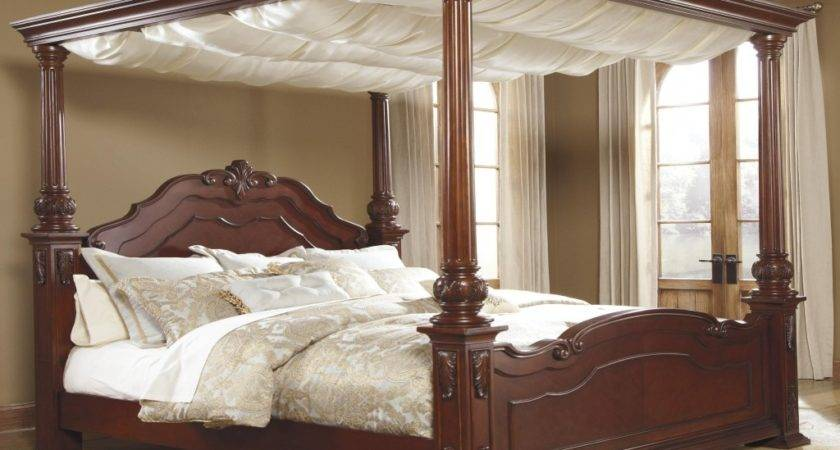 Black Canopy Bed Curtains