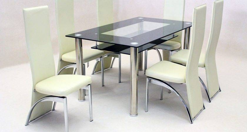 Black Glass Dining Table Chairs