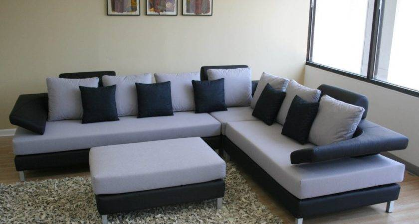 Black White Sectional Sofa Set Furniture Home Design
