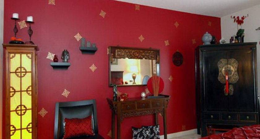 Bloombety Bedroom Red Wall Paint Design Ideas