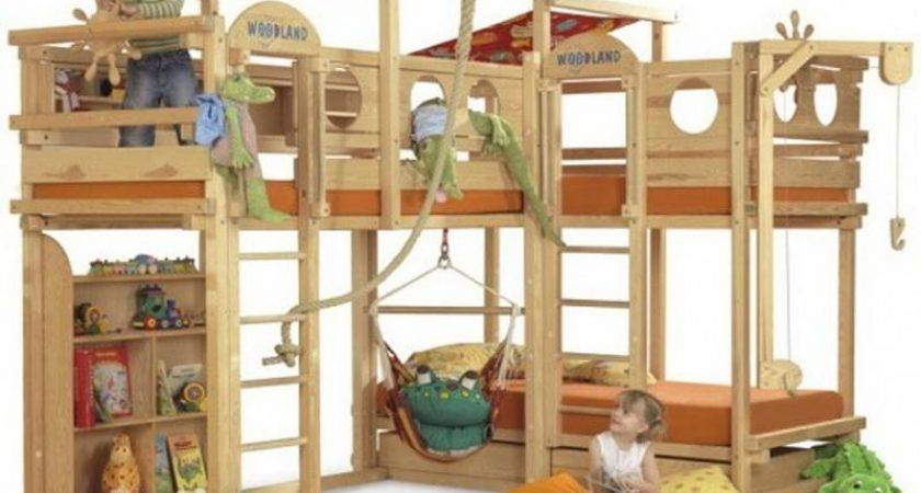Bloombety Cool Play Kids Bunk Beds