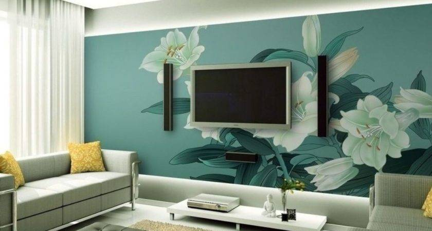 Blue Wall Chinese Painting