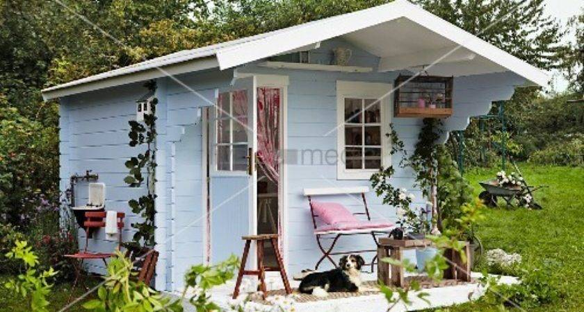 Blue Wooden Scandinavian Style Summer House Used