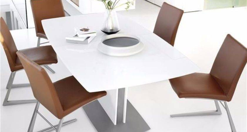 Boconcept Milano Dining Table White Glass Lacquer