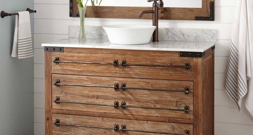 Bonner Reclaimed Wood Vessel Sink Vanity Pine